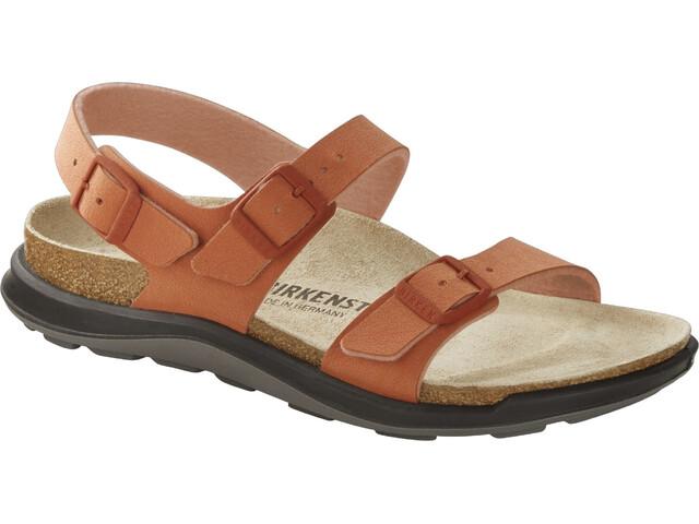 Birkenstock Sonora Crosstown Sandals Birko-Flor Birkibuc Narrow Women, faded brick